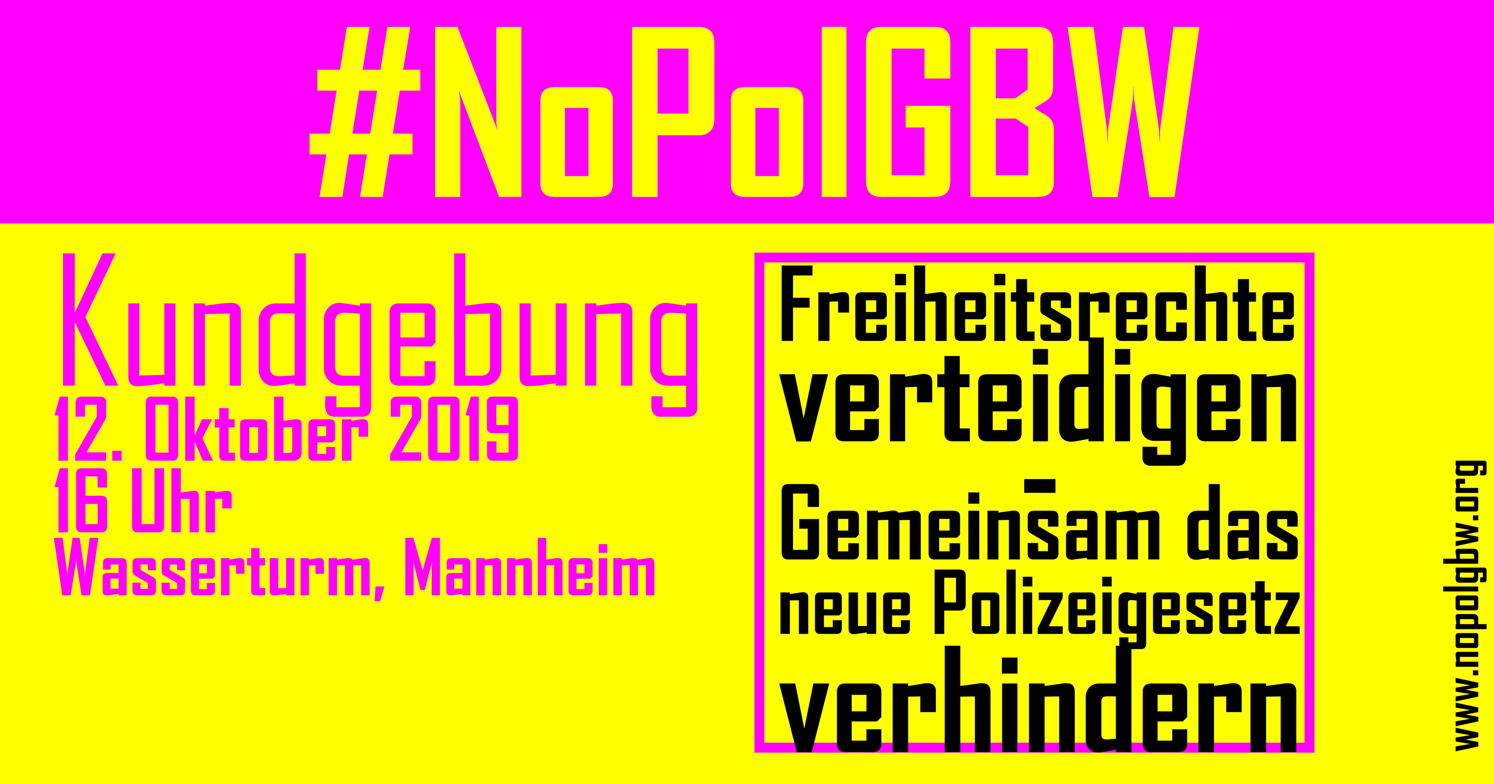 nopolgBW Kundgebung Mannheim