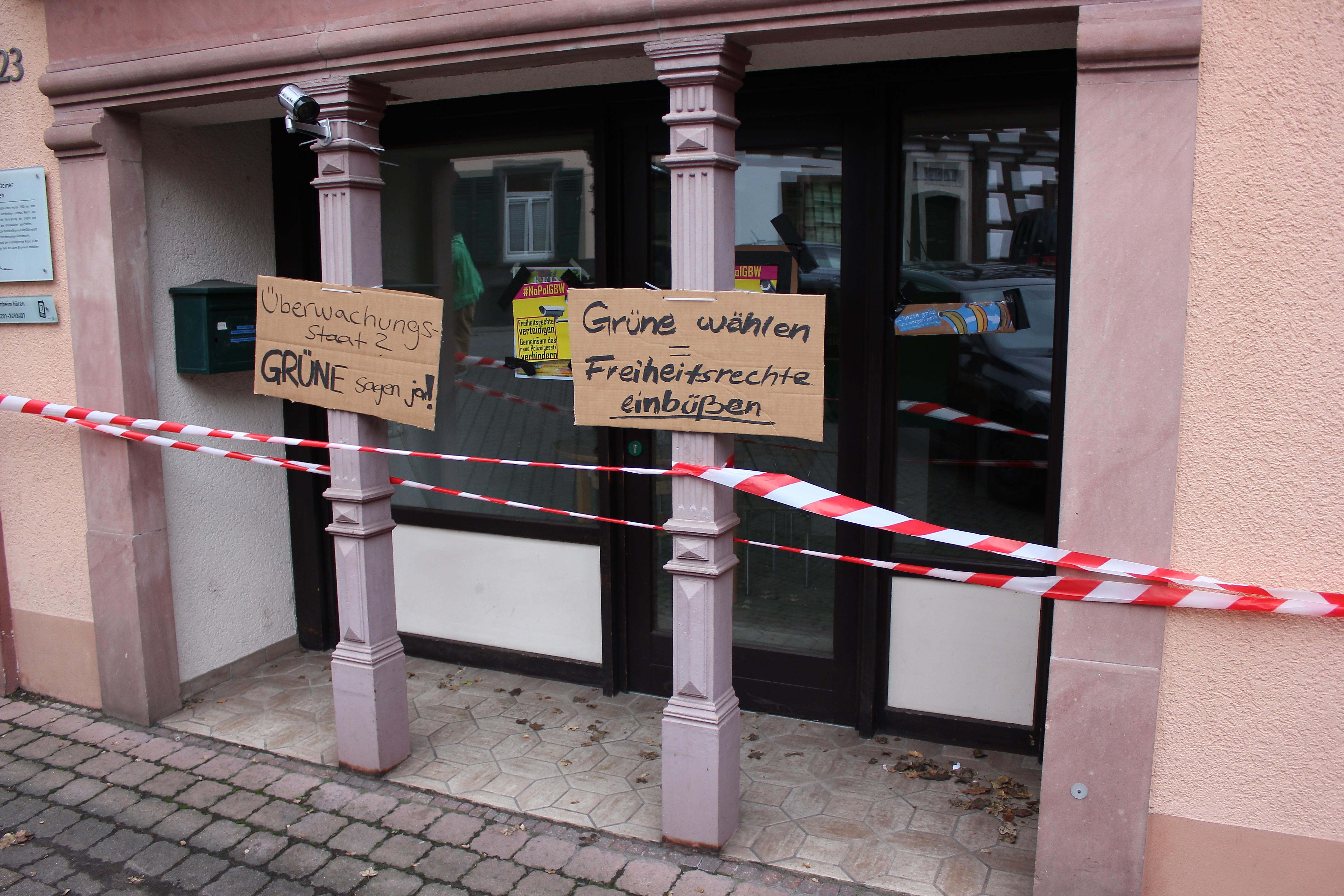 Grüne Büro Weinheim markiert
